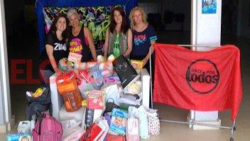 Se recibieron las donaciones del Zumbathón solidario