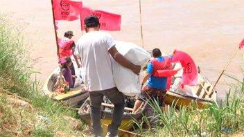 Once por Todos también por río: Caravana náutica dejó donaciones en Sala Mayo