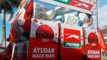 El pañalómetro solidario de Once por Todos llegó repleto a Sala Mayo