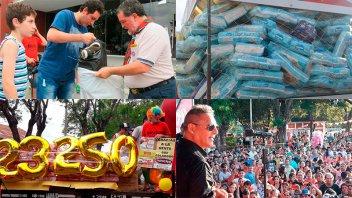 Once por Todos fue récord: Se reunieron más de 100.000 pañales