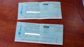 Secuestraron cheques por $ 70 mil y dinero en investigación por una estafa