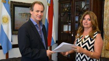 Claudia Gieco asumió al frente del Instituto Becario