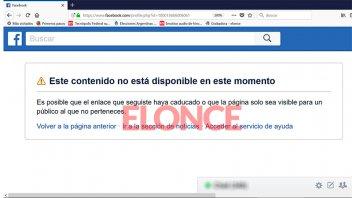 Atacante del bisturí cerró su perfil de Facebook tras difusión de publicaciones