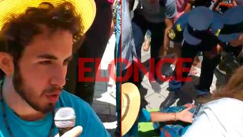 Vecinos resistieron el desalojo de cantante callejero en la Peatonal San Martín