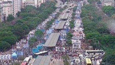Marcha en Buenos Aires contra las reformas que impulsa el Gobierno