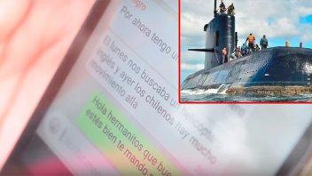 Submarino: Inquietante mensaje sobre un helicóptero británico y un buque chileno