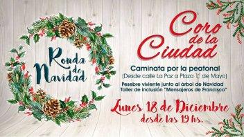 Con una caminata, el Coro de la Ciudad entonará canciones de Navidad