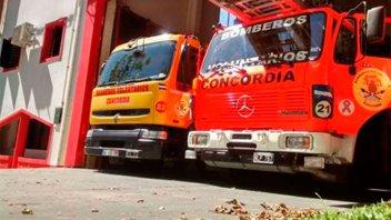 Bomberos de Concordia combaten diez incendios por día