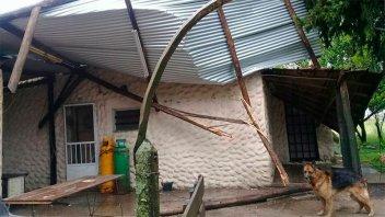 Fuertes ráfagas de viento causaron destrozos en la zona rural de Basavilbaso