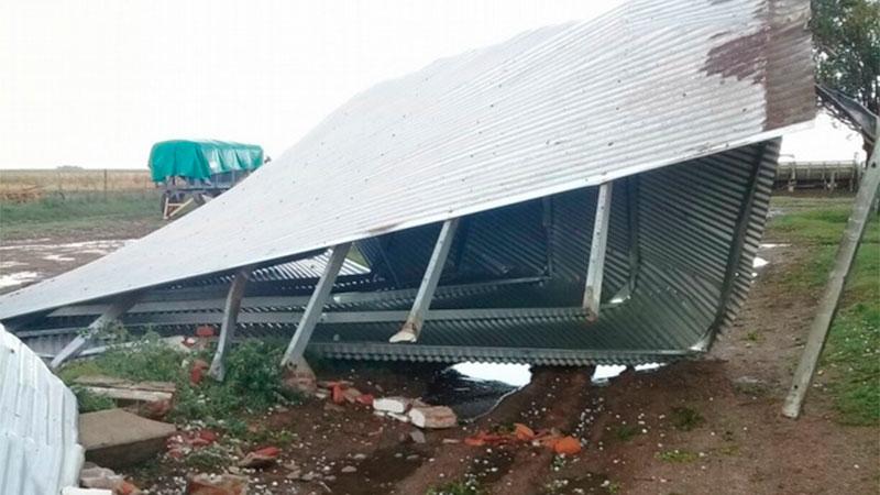 Dos muertos por el feroz temporal que azotó al centro y este del país