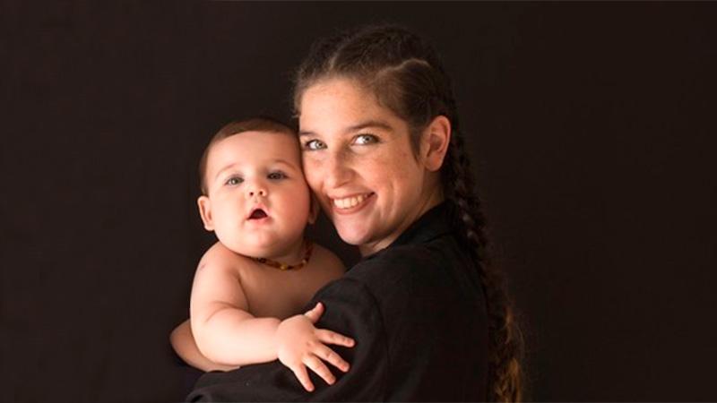 Juana Repetto y su hijo Toribio.