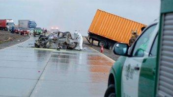 Confirmaron la identidad de la familia que murió en accidente en el sur de Chile