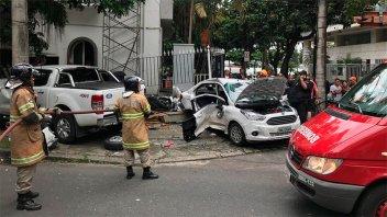 Murieron dos argentinos en tremendo choque en las calles de Río de Janeiro
