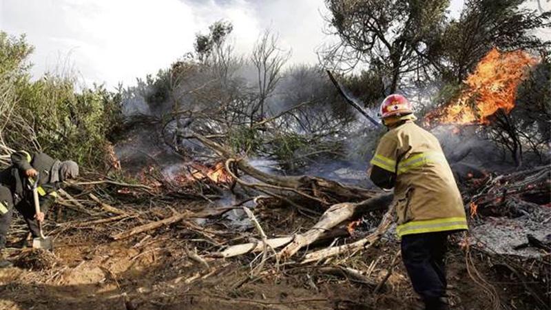 Incendio cerca de Villa Gesell