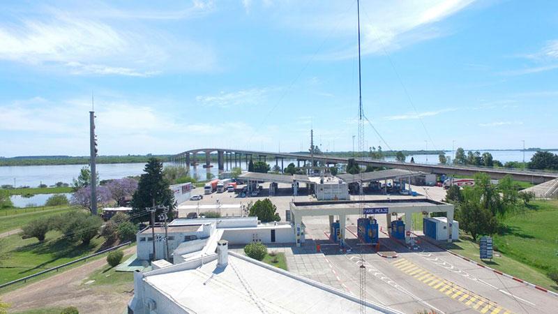 El puente Artigas, elegido para ir a Uruguay.