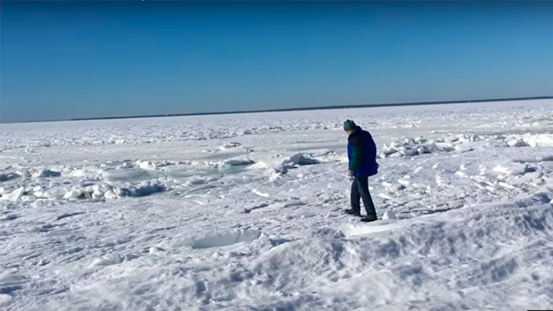 #Internacional El ' ciclón bomba' congeló el mar en Massachusetts, EE.UU