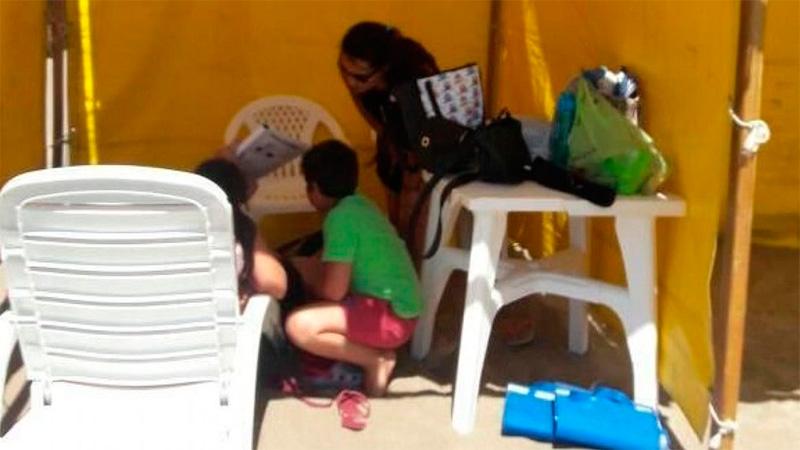 Otro accidente en la playa: nene se fracturó con el tirante de una carpa