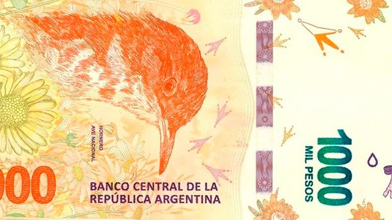 Nuevo billete de $ 1.000 que circula desde diciembre (BCRA).-