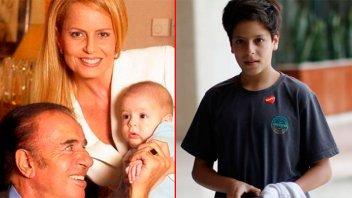 Menem visitó a su hijo tras la operación: