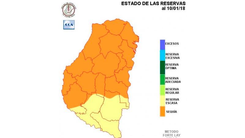 La sequía ya afecta al 80% de los suelos entrerrianos
