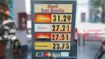 Subas de combustibles: