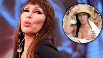 Filtraron una impactante foto de Moria Casán sin maquillaje