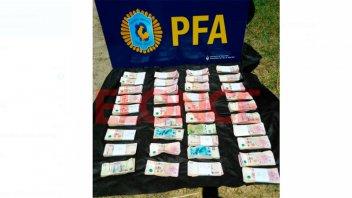 Cerca de Paraná, secuestraron 374 mil pesos que eran transportados en un auto