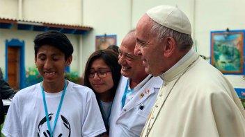 Francisco recibió a jóvenes de Scholas Occurrentes en su visita a Perú