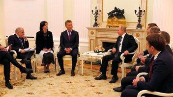 Macri agradeció a Putin la ayuda de Rusia en la búsqueda del submarino San Juan