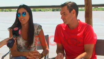 Atletas celebraron 14 años de haberse casado al finalizar una competencia