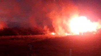 Un incendio de pastizales afectó cerca de 100 hectáreas