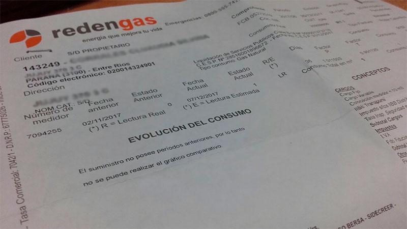 La tarifa de gas aumentará entre 300 y 2000 pesos en Paraná