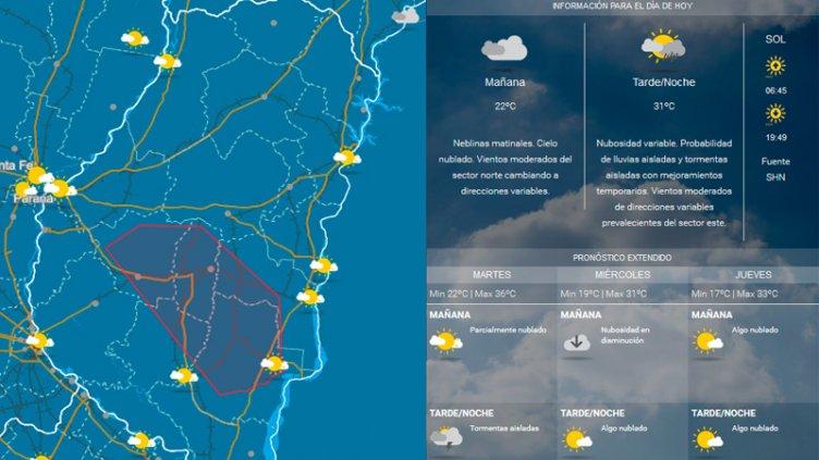 Alerta por tormentas para una zona de Entre Ríos: Advierten que seguirá el calor