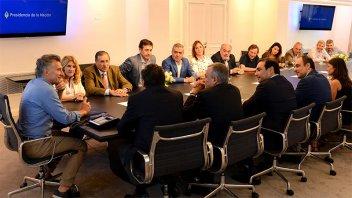 Macri recibió a la cúpula de la UCR: participó Varisco de la reunión