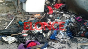 Pérdida de gas de una garrafa generó un incendio: Una familia perdió todo