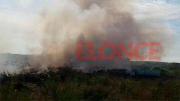 Incendio en depósito de basura de Oro Verde demandó la intervención de bomberos