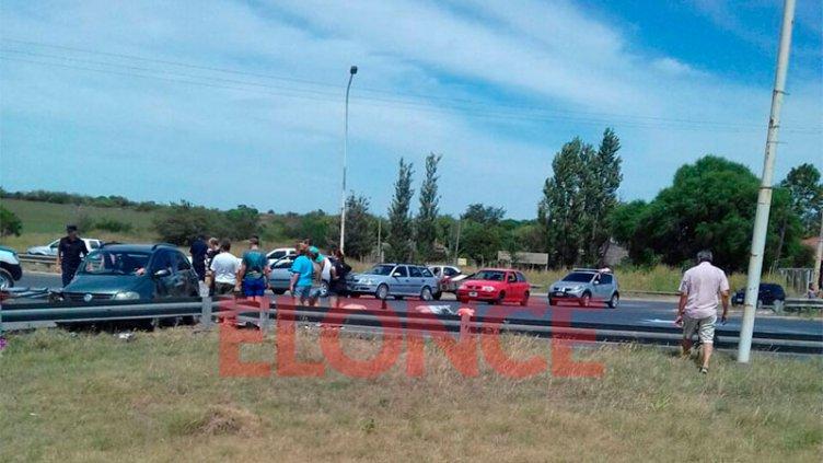 Accidente grave en el ingreso a San Benito