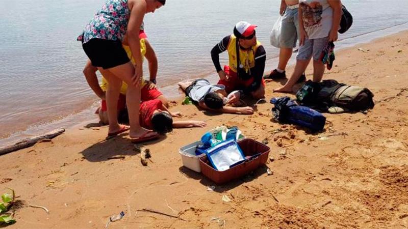 Niños casi mueren ahogados en el Paraná
