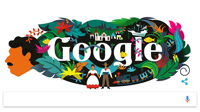 Google y su doodle homenaje a Gabriel García Márquez