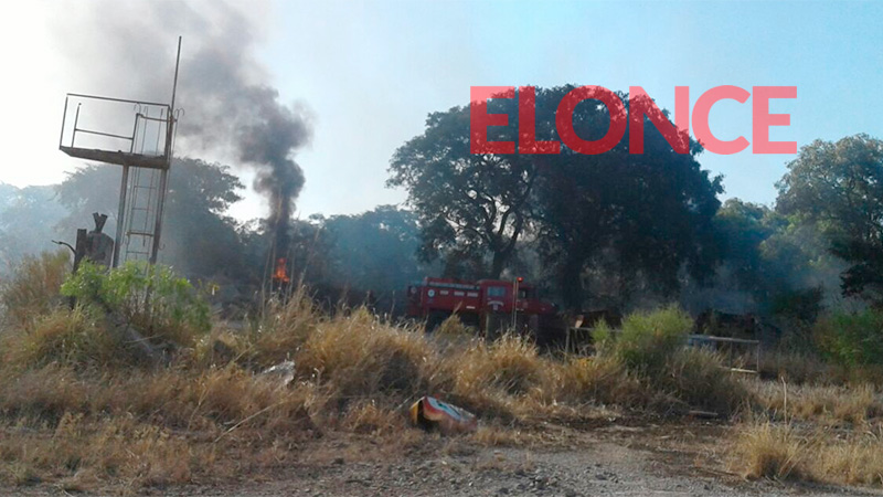 Incendio en la zona de Bajada Grande