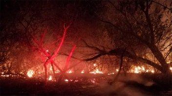 Siguen incendios: arduo trabajo para extinguir fuego en calle Rondeau