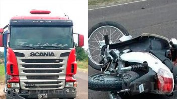 Imprudencia y tragedia: Murió bebé de 8 meses al chocar una moto y un camión
