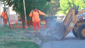 Hubo un operativo de limpieza y descacharrización en barrio Antártida Argentina