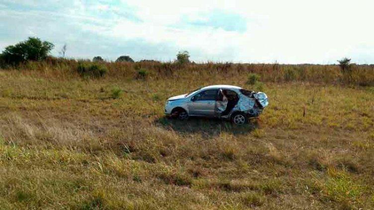 Dos personas perdieron la vida en fatal despiste sobre Ruta 12