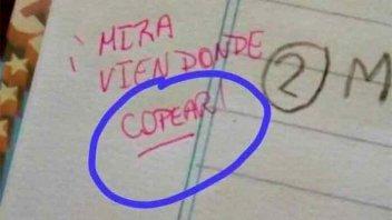 Se viralizaron en las redes los errores de ortografía de una docente