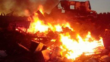 Lamentable: una persona falleció en el incendio de su vivienda