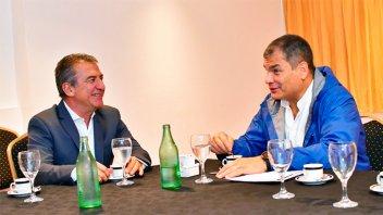 Urribarri se reunió con Correa y dialogaron sobre la situación de América Latina