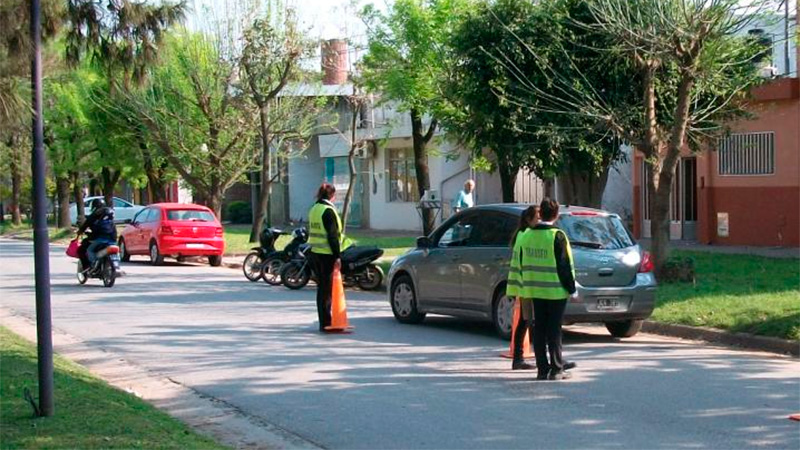 Operativos de control de tránsito en Crespo
