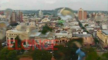 Llueve en Paraná y hay alerta por ocasional caída de granizo