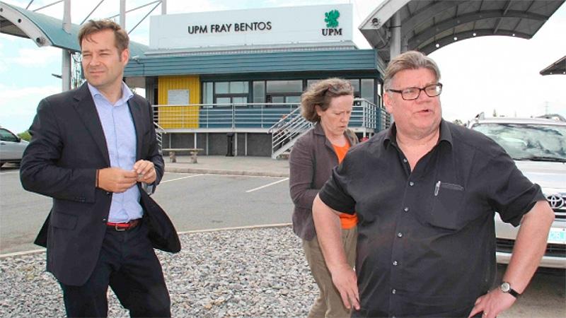 El canciller de Finlandia Timo Soini en UPM